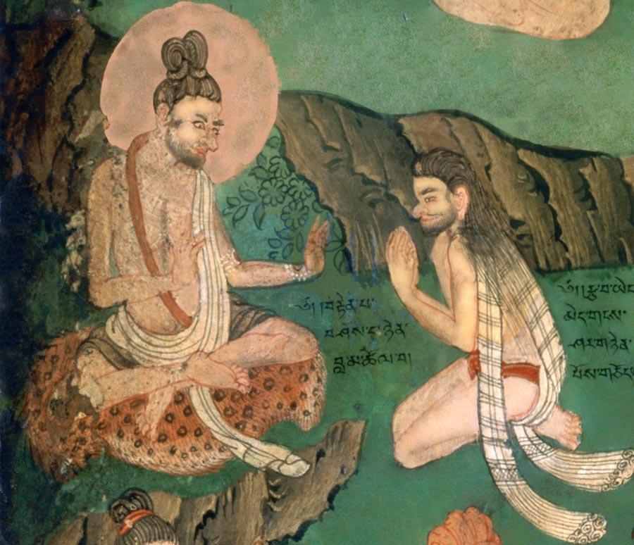 La devozione al guru. Lukhang, Lhasa, Tibet
