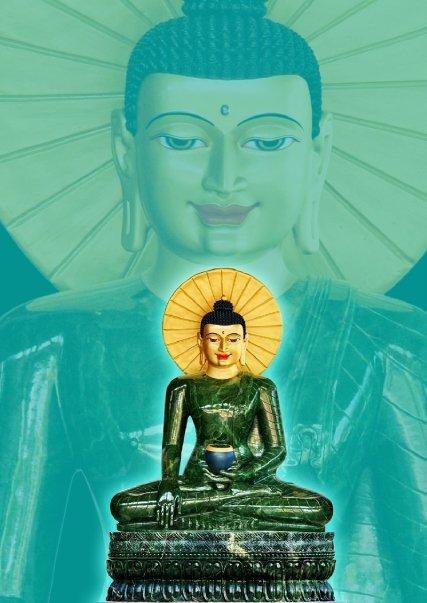"""Buddha Sakyamuni: """"Qualsiasi prosperità dei tre gioielli vi sia, possa quella prosperità apparire ora qui""""."""