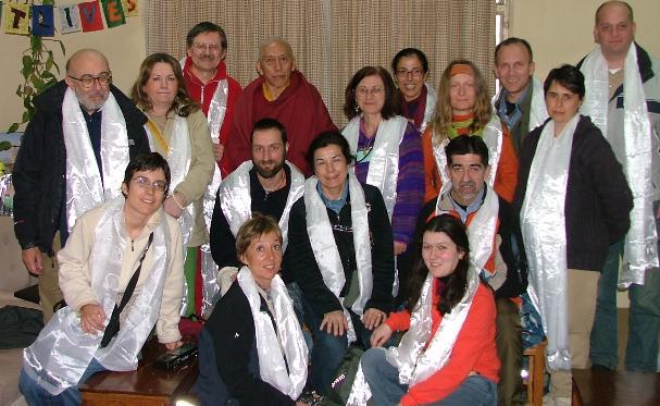 La benedizione con la Kata del Ven Samdhong Rimpoche
