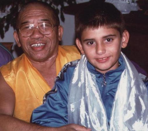 Il Ven Ghesce Ciampa Gyatzo con Alessandro Tenzin Villa da piccolo