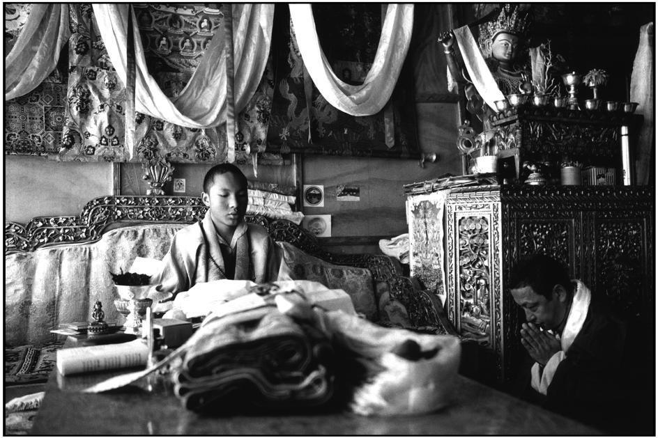 """XVII Karmapa: """"Vi sono tre precetti relativi al Bodhicitta: astenersi dal commettere azioni negative, accumulare azioni positive e adoperarsi per il bene degli altri""""."""