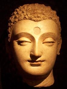 """Buddha Sakyamuni: """"Ogni volta che un monaco, mentalmente presente, inspira ed espira, in quel momento, egli dimora praticando la contemplazione del corpo sul corpo, ardente, chiaramente comprendendo e mentalmente presente, avendo vinto il desiderio e l'angoscia nei riguardi del mondo""""."""