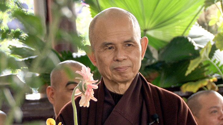 """Thich Nhat Hanh: """"Sono qui per te""""."""
