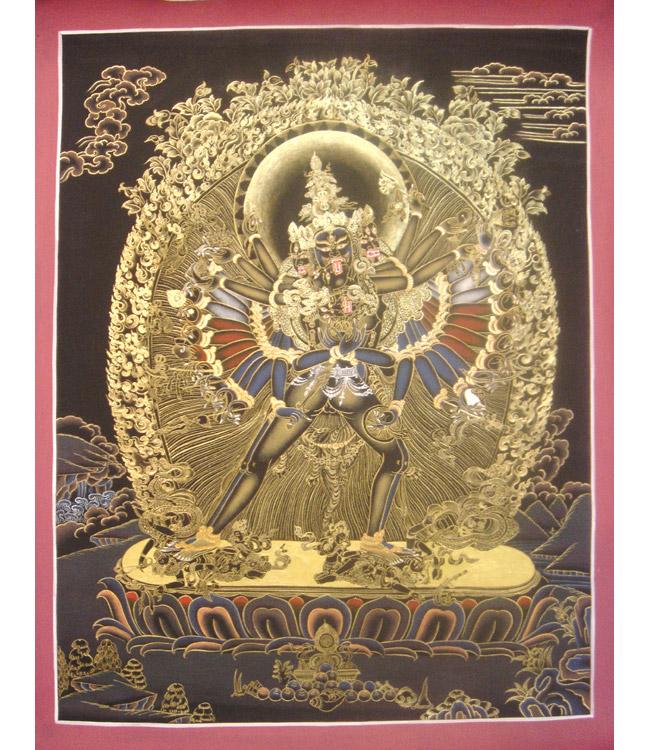 Kalachakra con la consorte Vishamata
