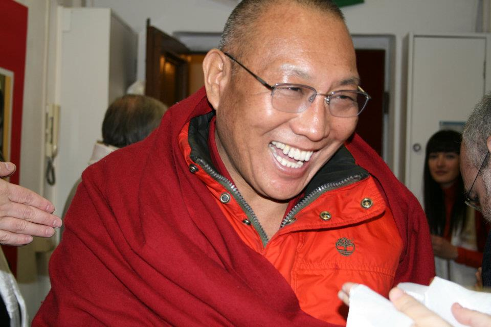 Ven. Dagri Rinpoche Sabato al Centro Sabsel Thekchok Ling di Genova.
