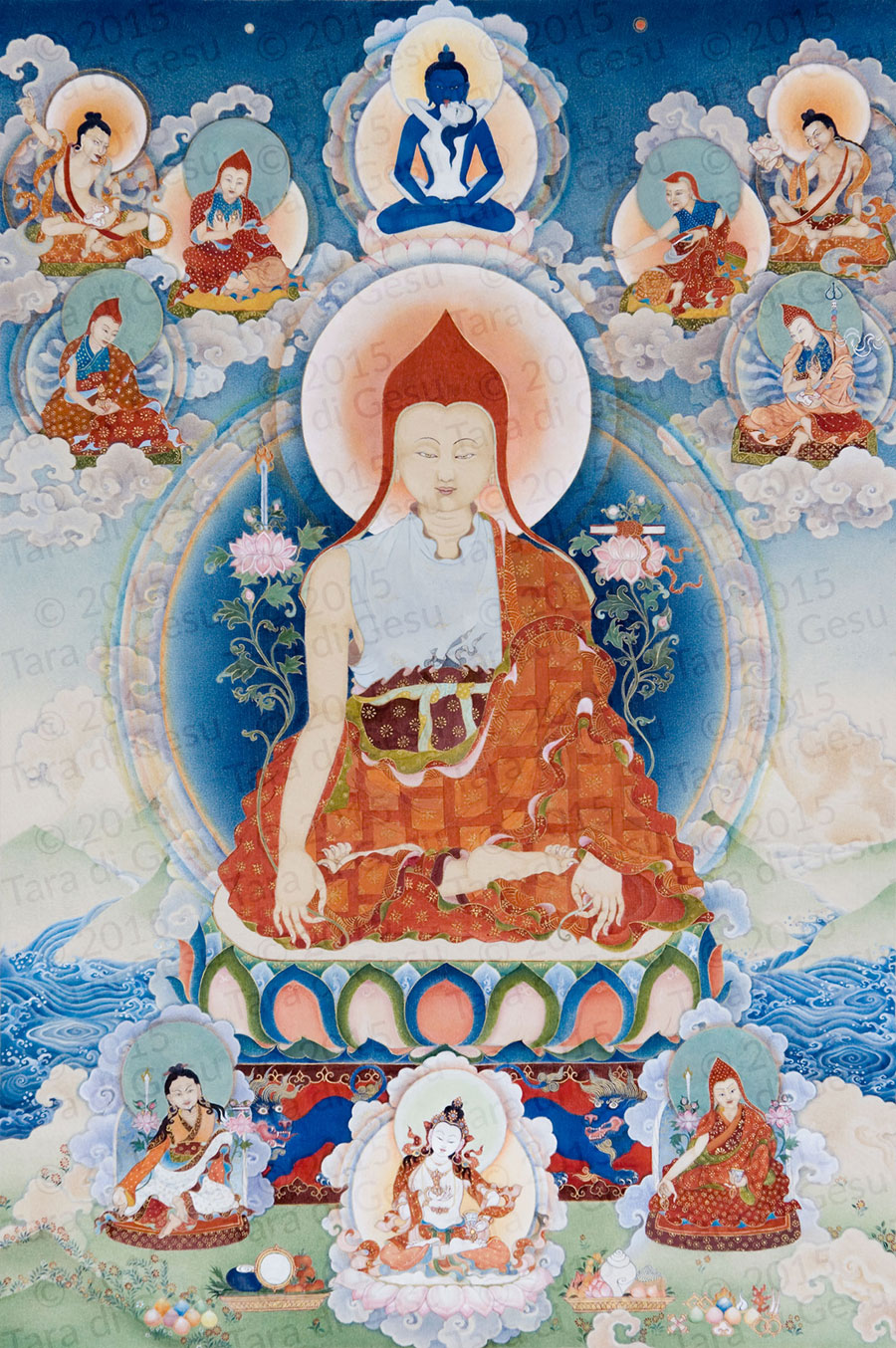 Longchenpa: Whatever thoughts arise, recognizing their essence, allow them all to be liberated as the display of your own intrinsic nature.