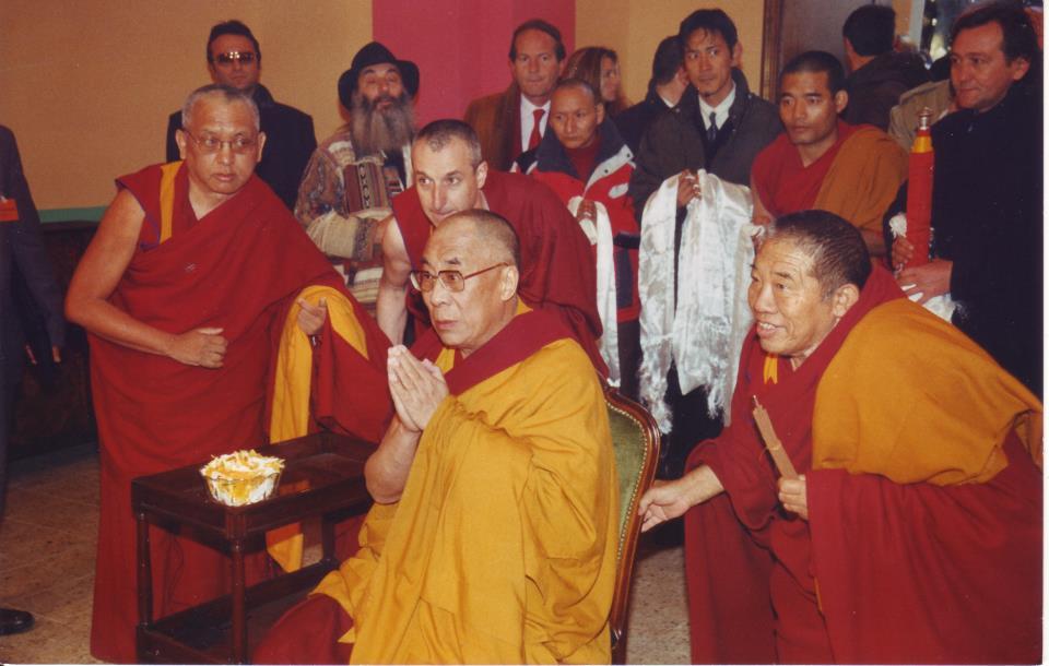 Sua Santità il Dalai Lama, Ghesce Ciampa Ghiatzo e Lama Zopa Rinpoche