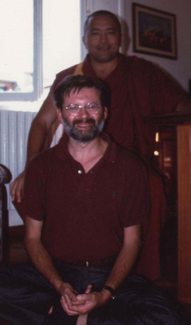 Il  Ven. Lama Ghesce Tenzin Tenphel col Dott Luciano Villa.