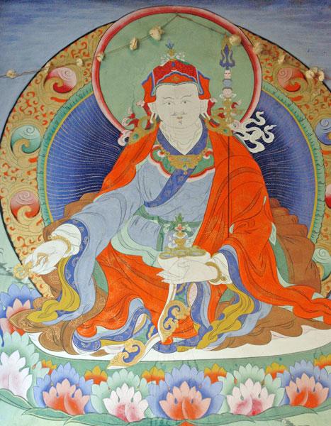 """Guru Padmashambava: """"Questa realizzazione estremamente profonda, Sia luogo di investigazione verso il quale tendono tutte le tue capacità!"""""""
