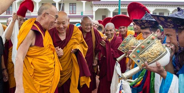 Sua Santità il Dalai Lama con Sua Santità Drikung Chetsang Rinpoche