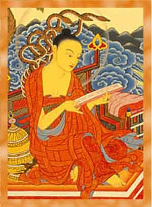 """Acarya Nagarjuna: """" Poiché il Samsara si è dimostrato tale, non può esservi in esso nessuna nascita favorevole, sia tra gli dèi che tra gli umani, né tra gli esseri infernali o tra i preta, gli asura o gli animali. Ogni tipo di nascita deve venir considerata molto dannosa.""""."""