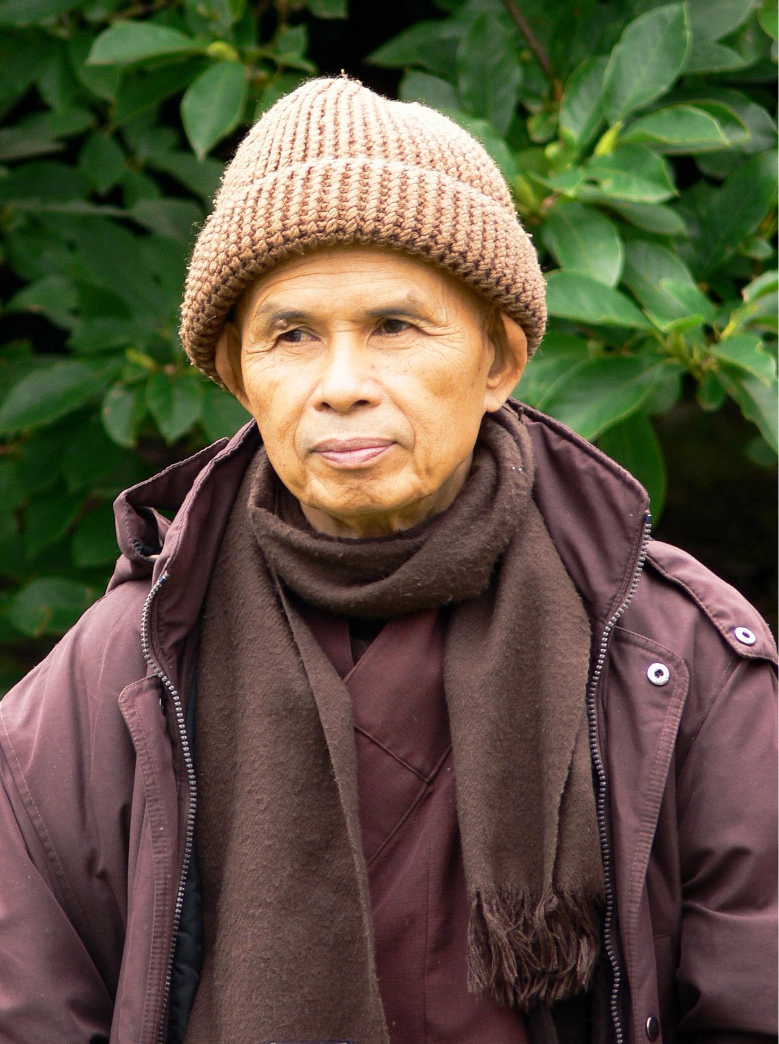 """Thich Nhat Hanh: """"Annaffiate i semi di pace e gioia in voi, ogni giorno. Gioite del momento presente e condividete pace e amore con gli altri. Questa è vera preghiera. """"."""
