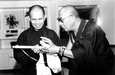Sua Santità il Dalai Lama col Ven. Thich Nhat Hanh