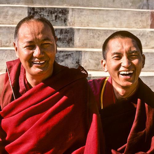 Lama Thupten Yesce con Lama Zopa Rinpoche