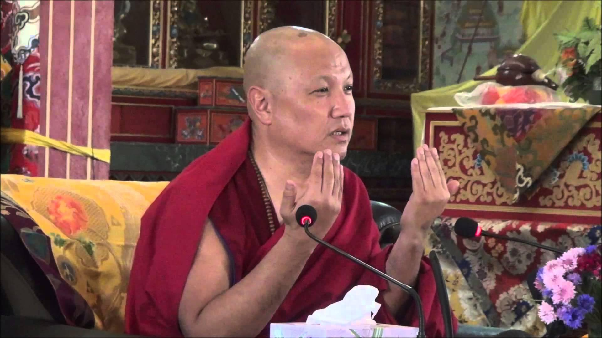 Ven.Sangye Nyenpa Rinpoce: Siete voi a leggere la vostra mente, solo voi sapete se le vostre attitudini sono corrette, spiate quindi cosa fa la vostre mente