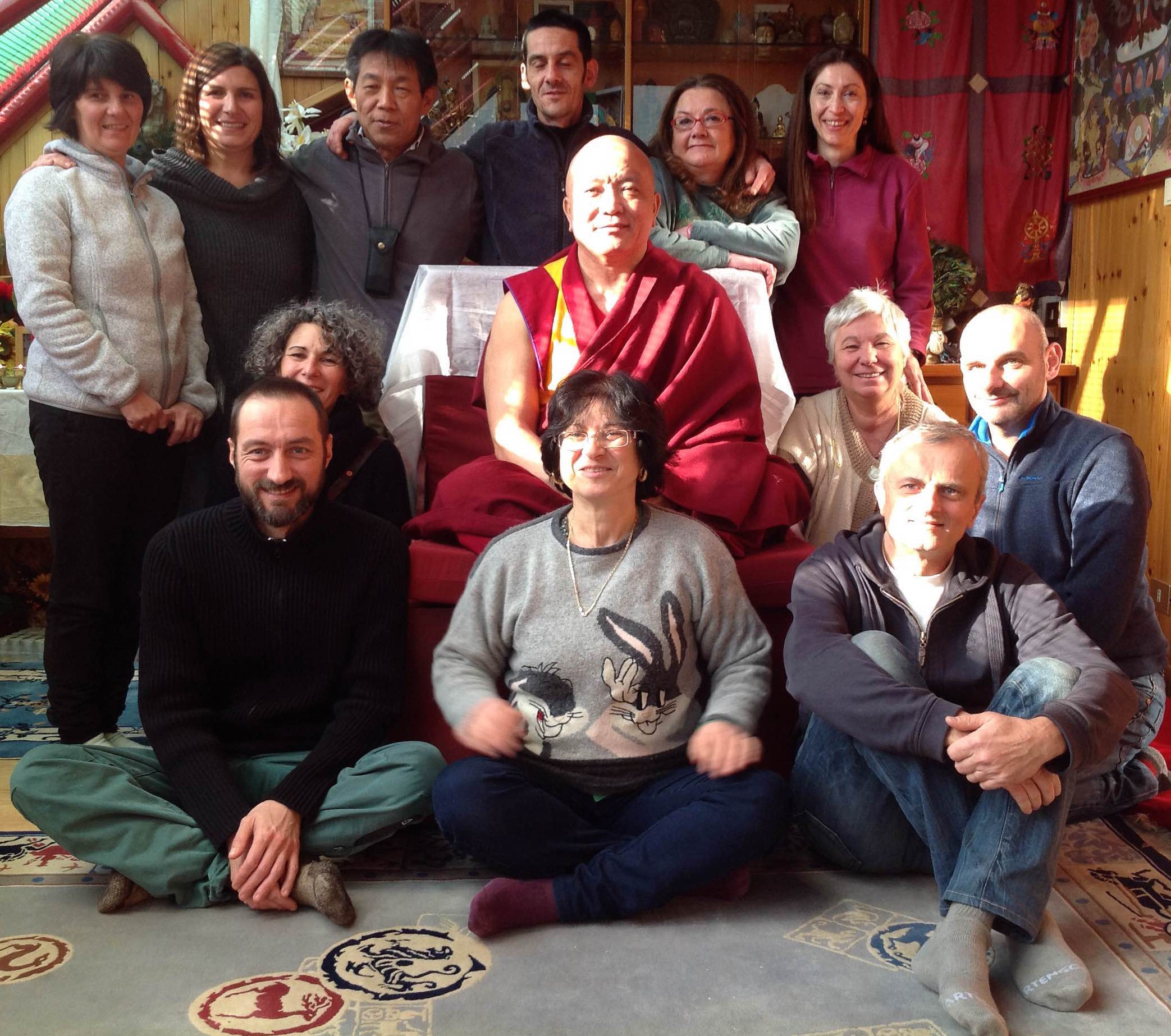 Il Ven. Ghesce Tenzin Tenphel al Centro Studi Tibetani Sangye Cioeling di Sondrio il 28-29.11.15