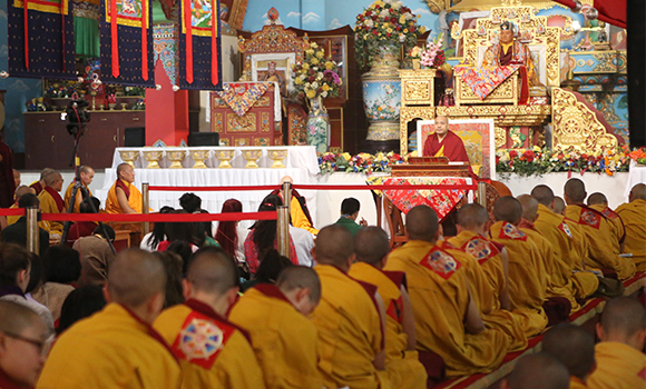 """The Gyalwang Karmapa: """"When we really think about our own situation we can see that this life of ours is interdependent, produced by other conditions""""."""