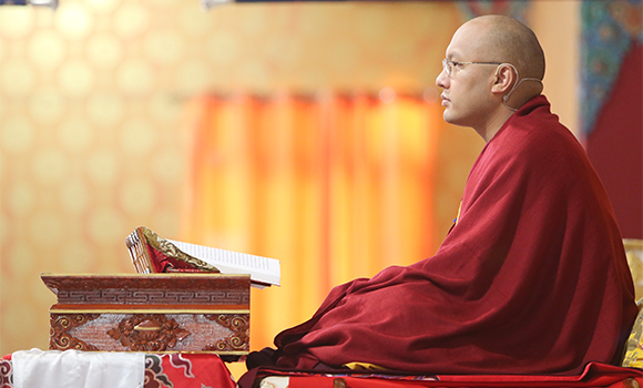 The Gyalwang Karmapa: Being a bodhisattva is working from now until Buddhahood.