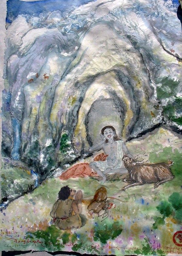 Milarepa riprese la sua opera, pensando che di certo il lama non poteva sbagliare.