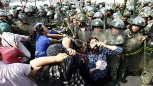 La protesta delle donne Uigur