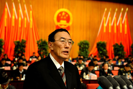 Il governatore dimissionario del Tibet Qiangba Puncog