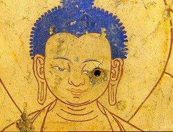 Il Buddha sfregiato da una pallottola cinese