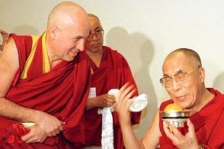 Matthieu Ricard con Sua Santita il Dalai Lama