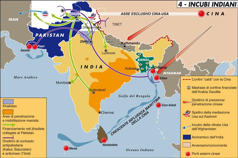 Carta geopolitica dell'India