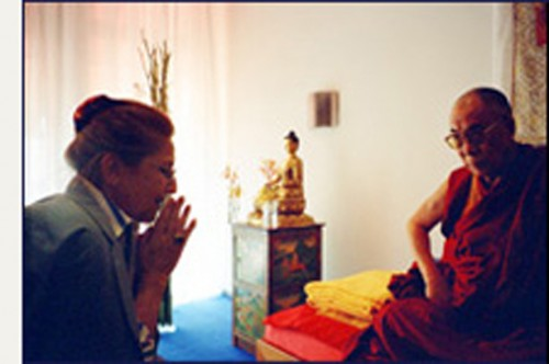 Claude B. Levenson con Sua Santtà il Dalai Lama