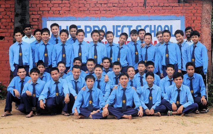 Studenti chakma che vivono nell'ostello di Bodhgaya del Progetto Alice