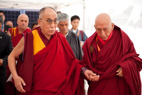 Sua Santità il Dalai Lama col Primo Ministro Prof. Samdhong Rinpoche