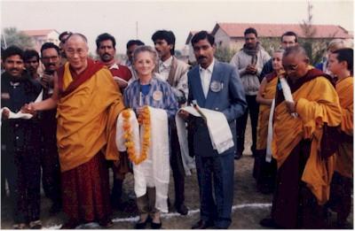 S.S. il Dalai Lama ed il Ven. Lama Thubten Zopa Rinpoche in visita a MAITRI
