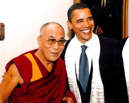 Sua santità il Dalai Lama ed il Presidente Obama