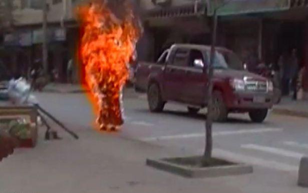 Nell'articolo i video dell'autoimmolazione di Palden Choetso e di un altro monaco non identificato.