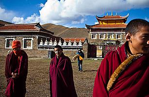 Il monastero di Kardze' in Tibet, cui appartenevano molti monaci che si sono immolati.
