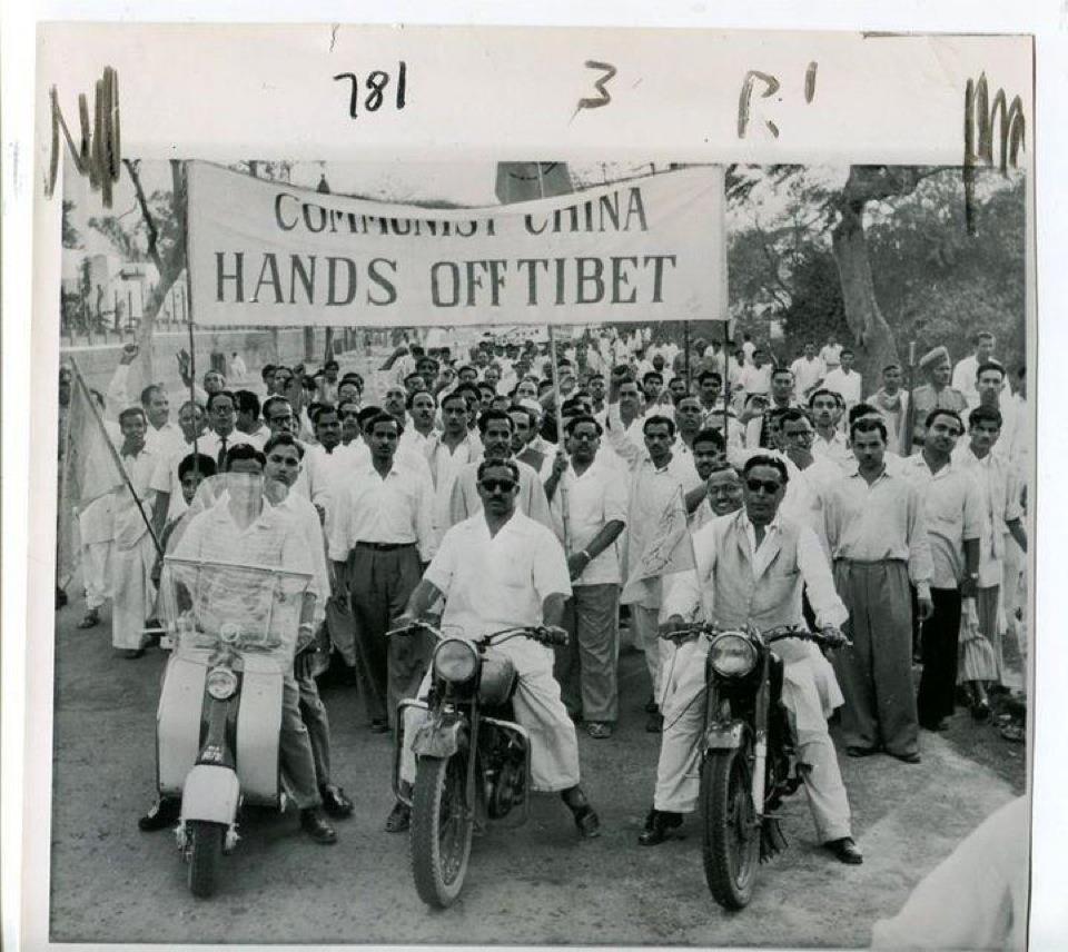 Protesta in India anni '60 contro l'occupazione cinese del Tibet.