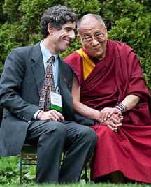 Il Prof. Richard J. Davidson con Sua Santità il Dalai Lama