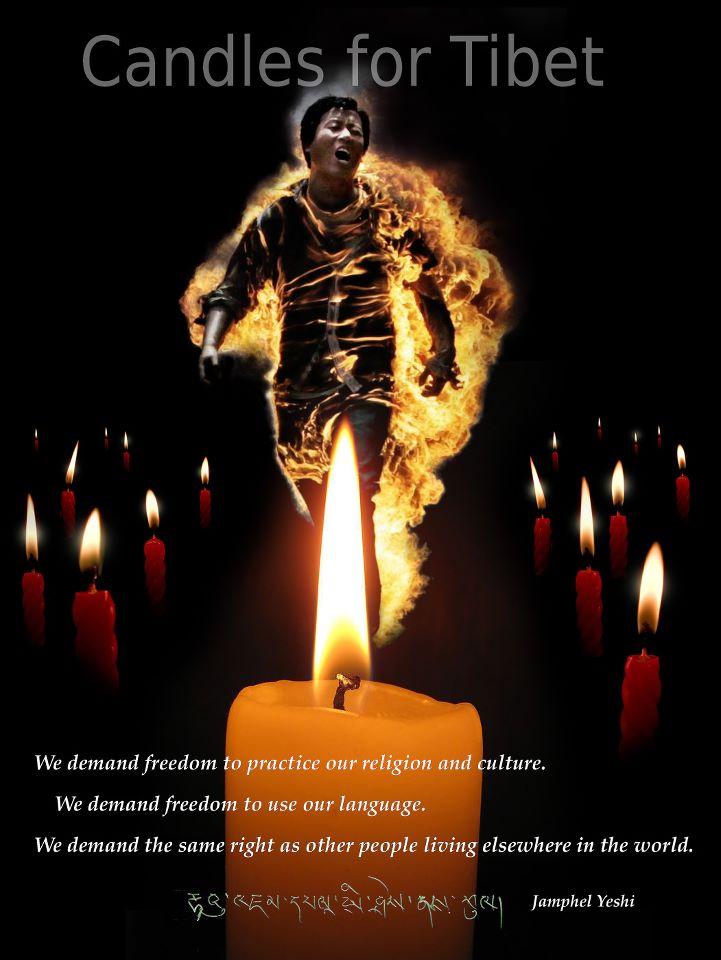 Tibet burns