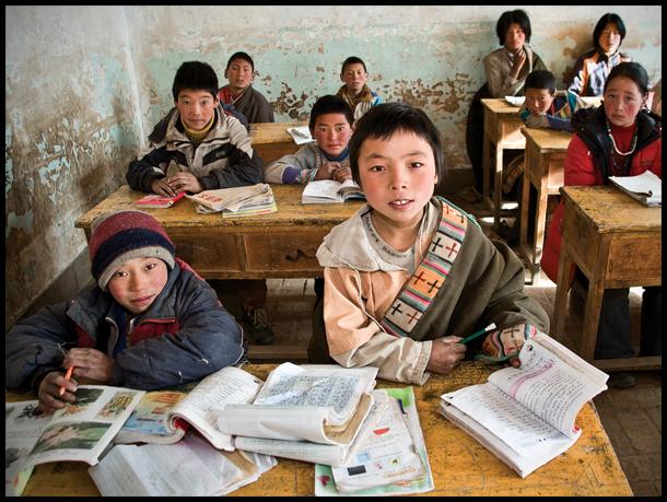 Una scuola per bambini in Tibet