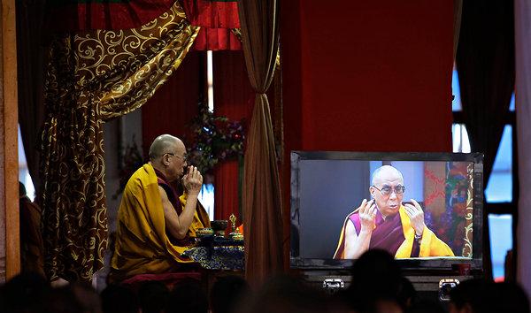 Sua Santità il Dalai Lama conferisce l'iniziazione al Kalachakra a Bodhgaya gennaio 2012