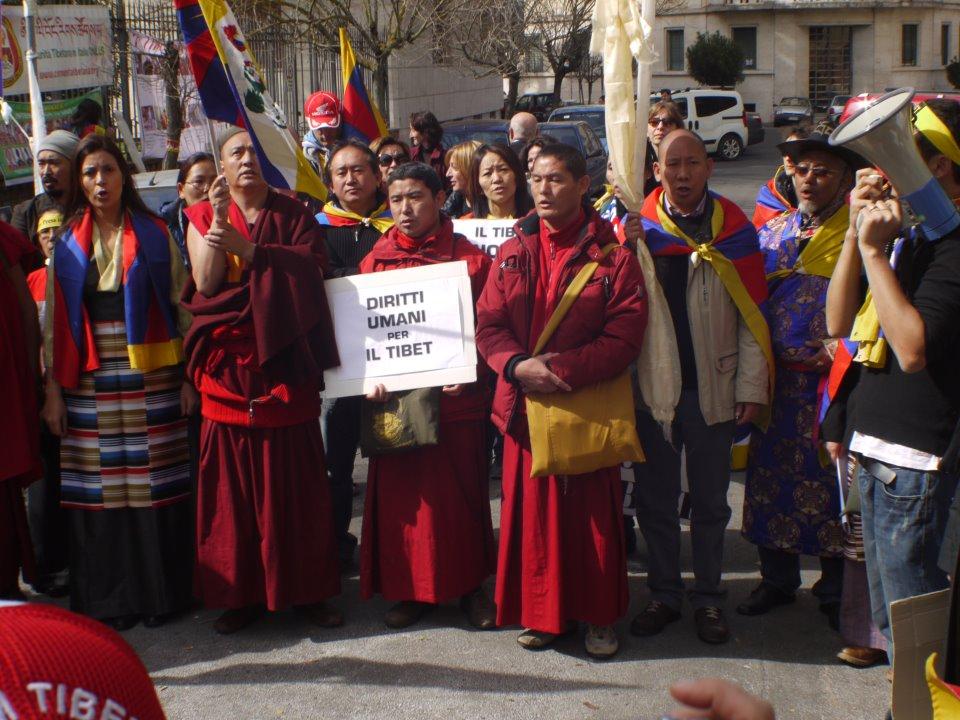 Una recente manifestazione a Roma per i diritti umani in Tibet
