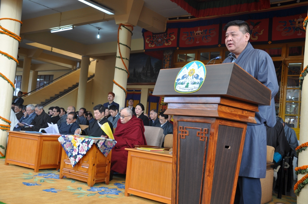 The Tibetan Parliament-in-Exile with His Holiness the Dalai Lama