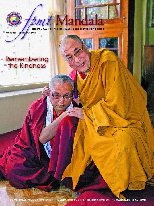 Sua Santità il Dalai Lama benedice Lama Zopa Rinpoche