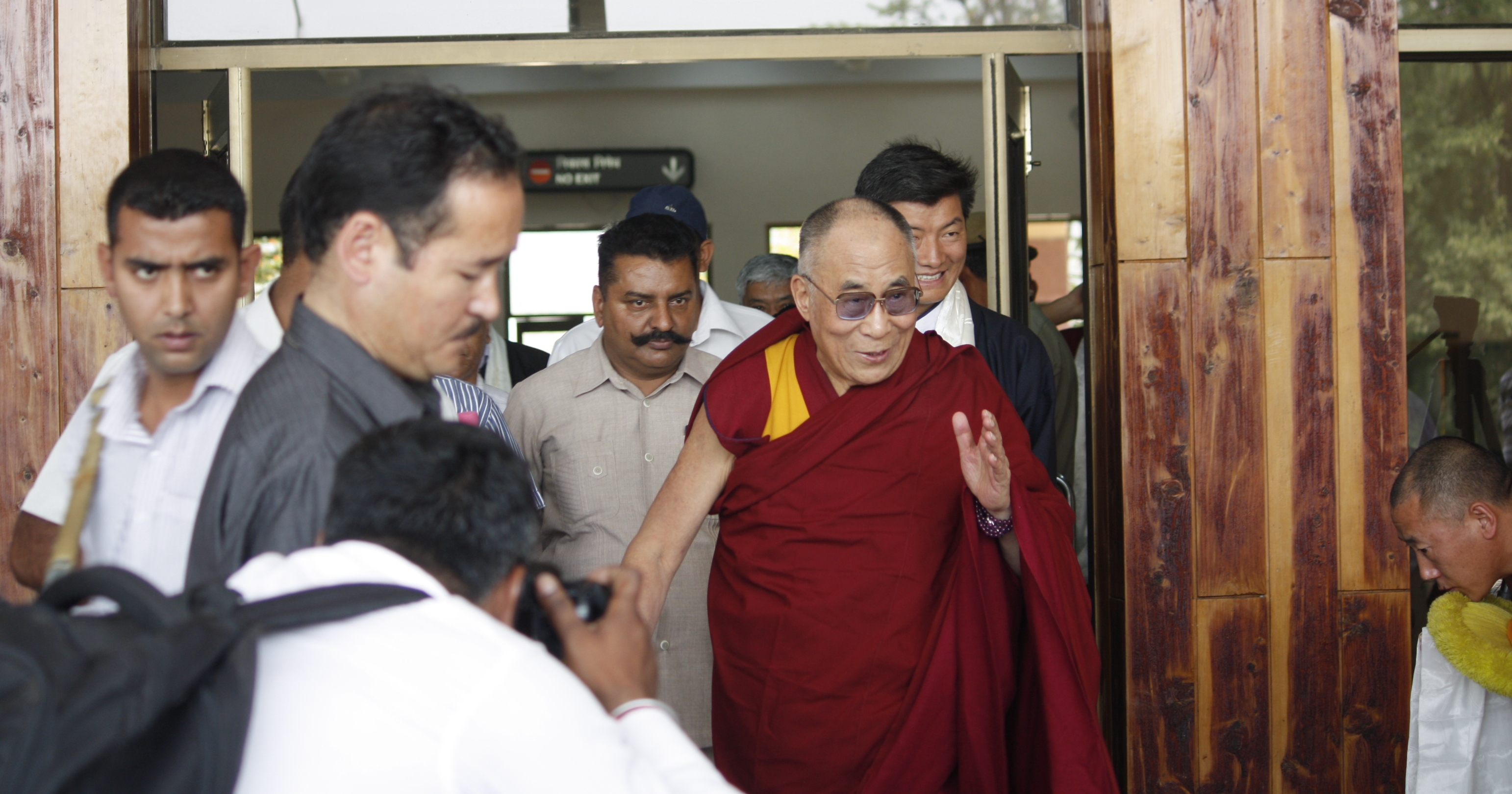 His Holiness the Dalai Lama returned to Dharamshala