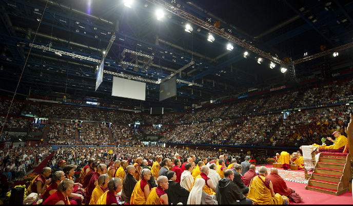 The Milano Forum, the venue for His Holiness the Dalai Lama's teaching and talk in Milan, Italy, on 28 June 2012/Photo/Tenzin Choejor/OHHDL
