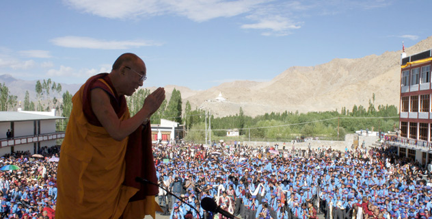 His Holiness the Dalai Lama's visit to Ladakh, J&K State, India, on July 26-28, 2012.