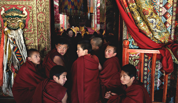 Monks at Kirti Monastery. The wave of self-immolations is one of the biggest in modern history.
