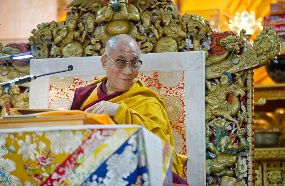 "His Holiness the Dalai Lama: ""Inner peace is inner peace! To have peace of mind is to be not only physically relaxed, but completely relaxed on a mental level too; not dull, but fully alert."""