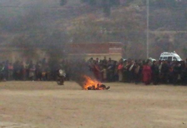Tsesung Kyab si immola per il Tibet