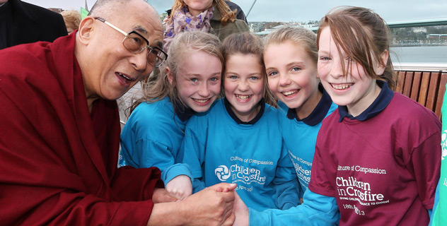 His Holiness the Dalai Lama's visit to Derry, Northern Ireland, to participate in Children in Crossfire's Culture of Compassion events on April 18, 2013.